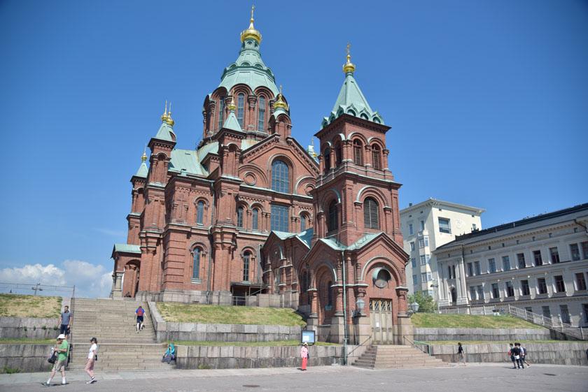 Exterior de la Iglesia de Uspenski