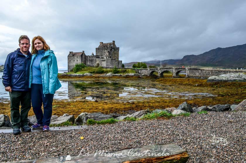 Rafa e Inma disfrutando en Escocia