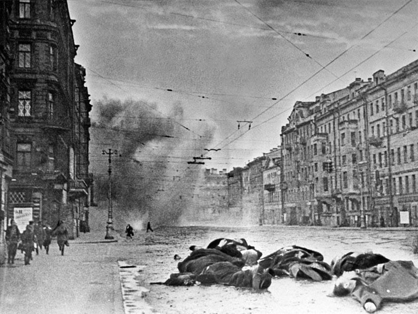 Fotografía antigua del asedio de San Petersburgo
