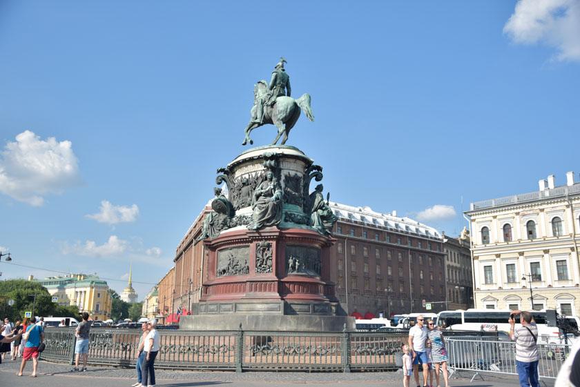 Estatua de Nicolás I en la Plaza de San Isaac