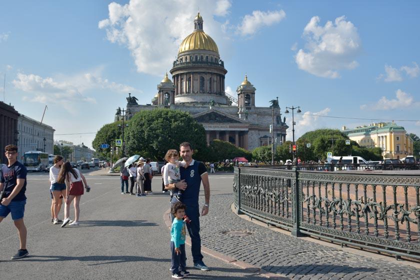 Oscar, Daniel y Hugo en San Petersburgo