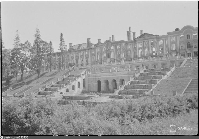 Peterhof destruido por el régimen nazi