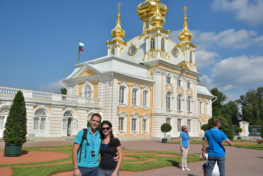 Preciosa iglesia de Peterhof