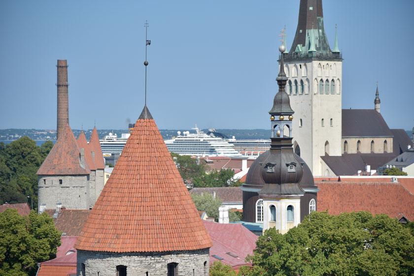Encaramados a los tejados de Tallin