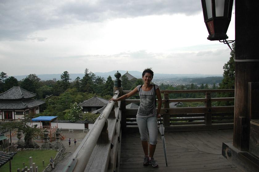 Bonitas vistas de Nara desde Nigatsu-do