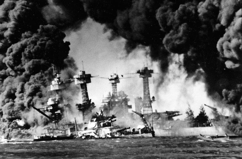Foto histórica del ataque a Pearl Harbor