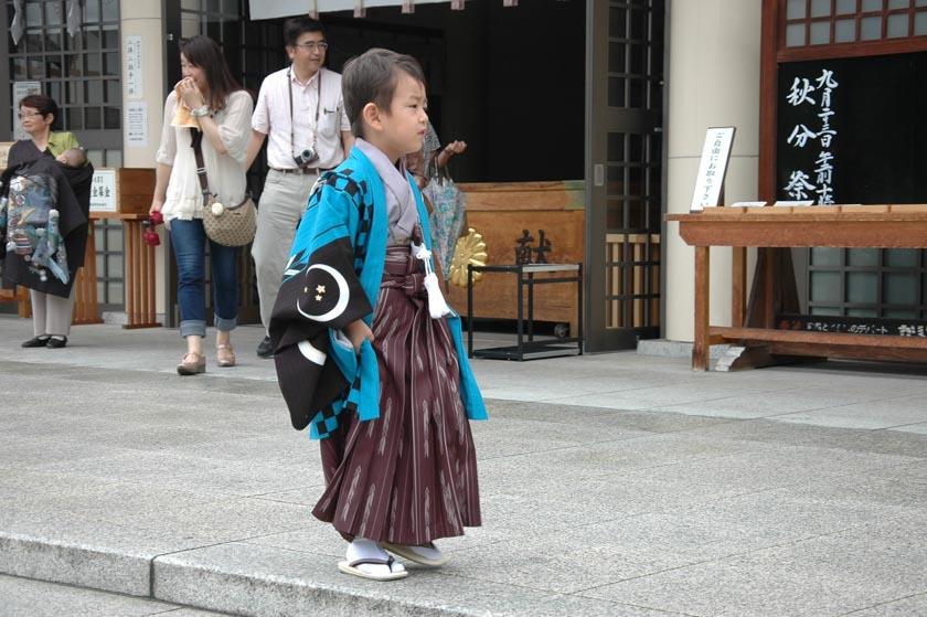 Nos encantaron los trajes típicos japoneses