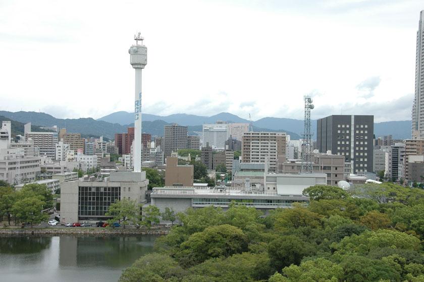 Vistas de Hiroshima desde su castillo