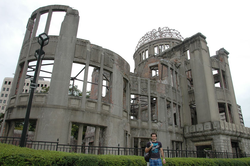 Uno de los pocos edificios que quedó en pie tras la caída de la bomba atómica