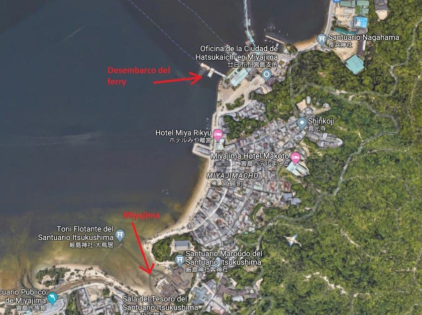 Situación de Miyajima