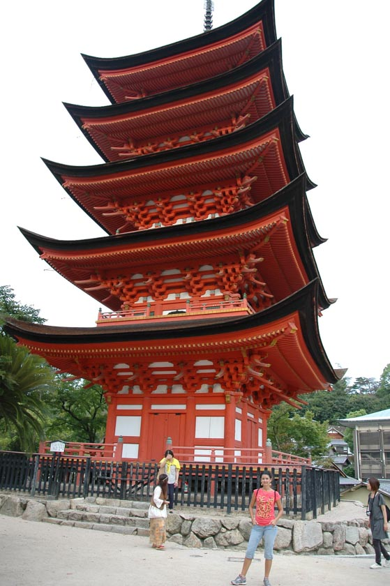 Pagoda de cinco pisos en la isla de Miyajima
