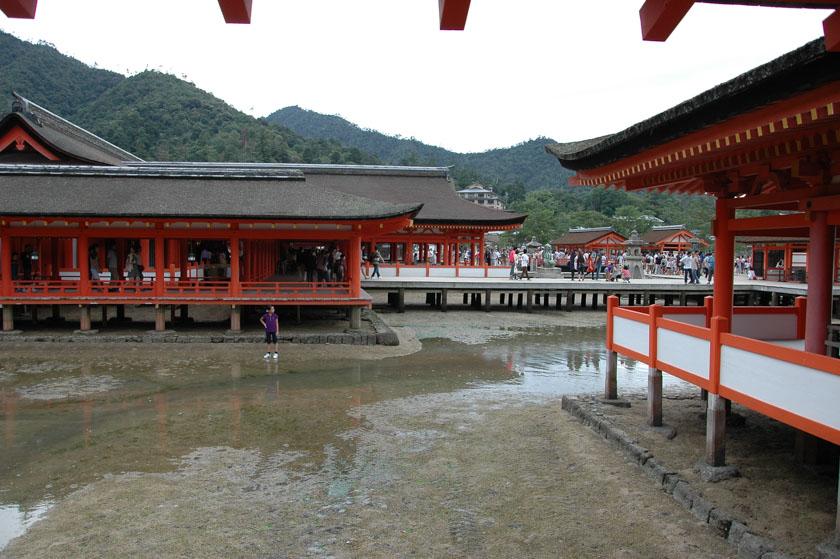 En Itsukushima hay que tener en cuenta las mareas