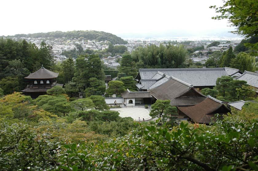 Preciosas vistas de Ginkakuji