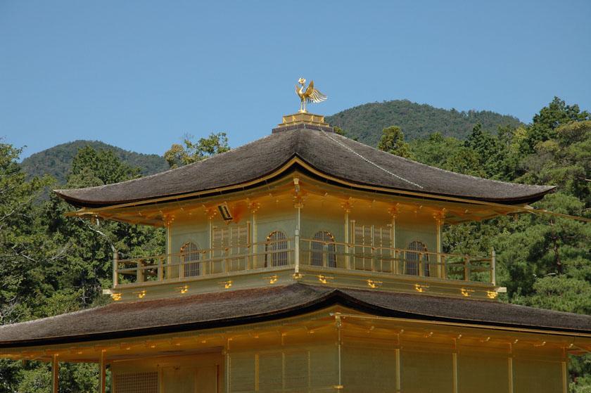 Detalles del techo de Kinkakuji