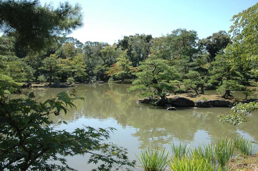 Espectacular jardín de Kinkakuji