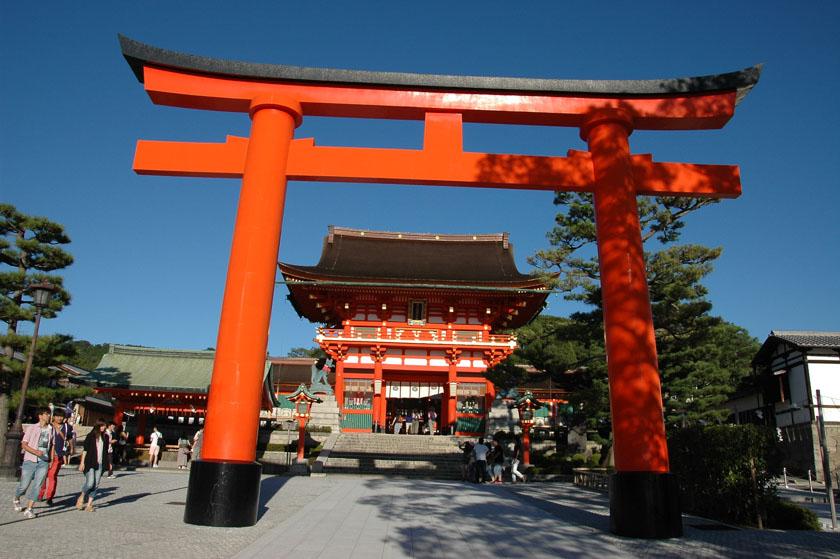 Segundo torii de entrada a Fushimi Inari