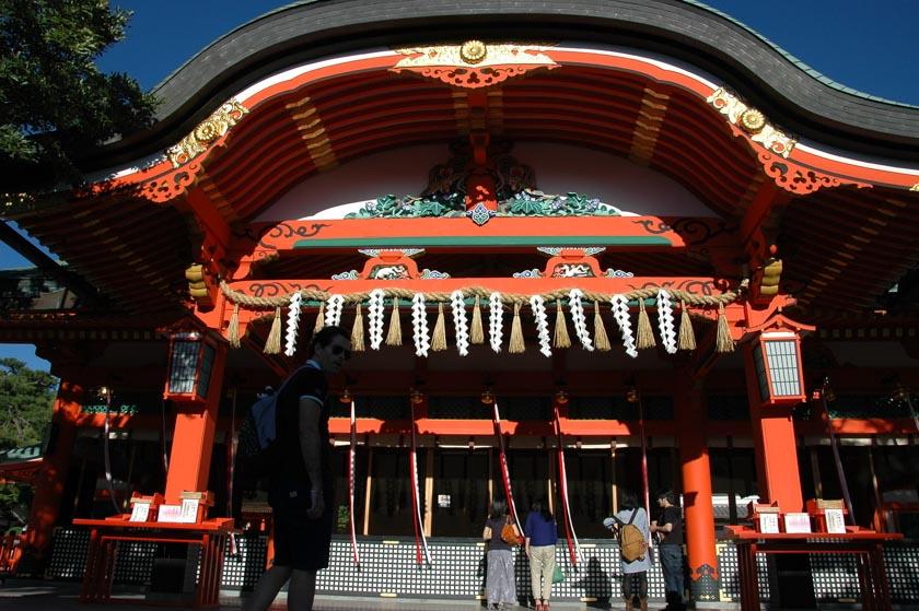 Templo principal en Fushimi Inari
