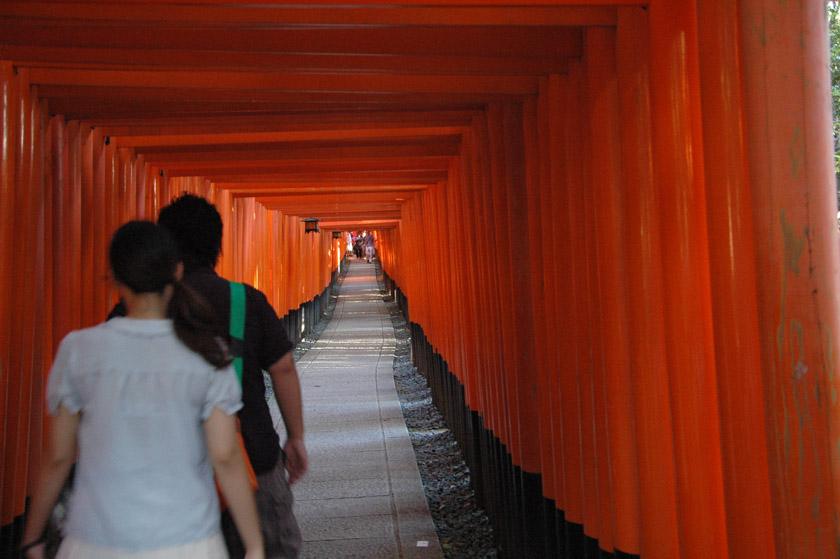 Pasillo principal de toriis en Fushimi Inari