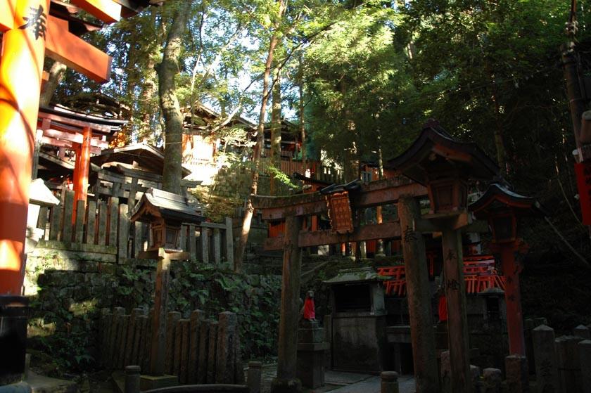 Santuario escondido en Fushimi Inari