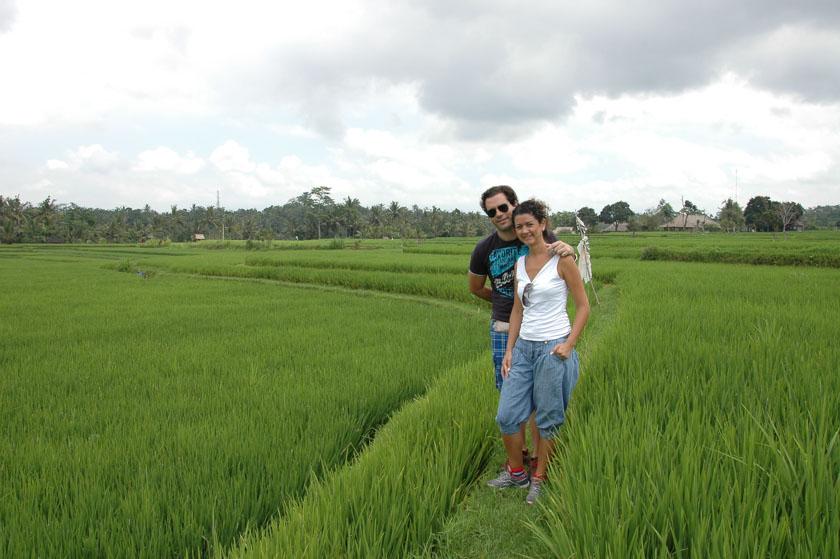 Paseando por los campos de arroz de Ubud