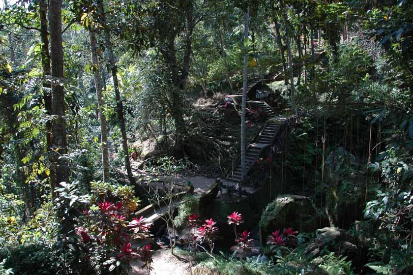 Increíble naturaleza en Goa Gajah