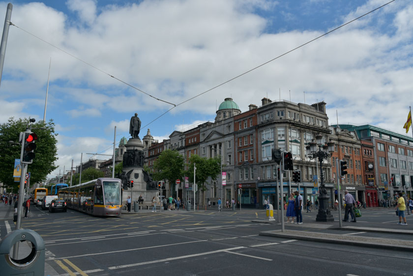 Paseando por la calle más transitada de Dublin