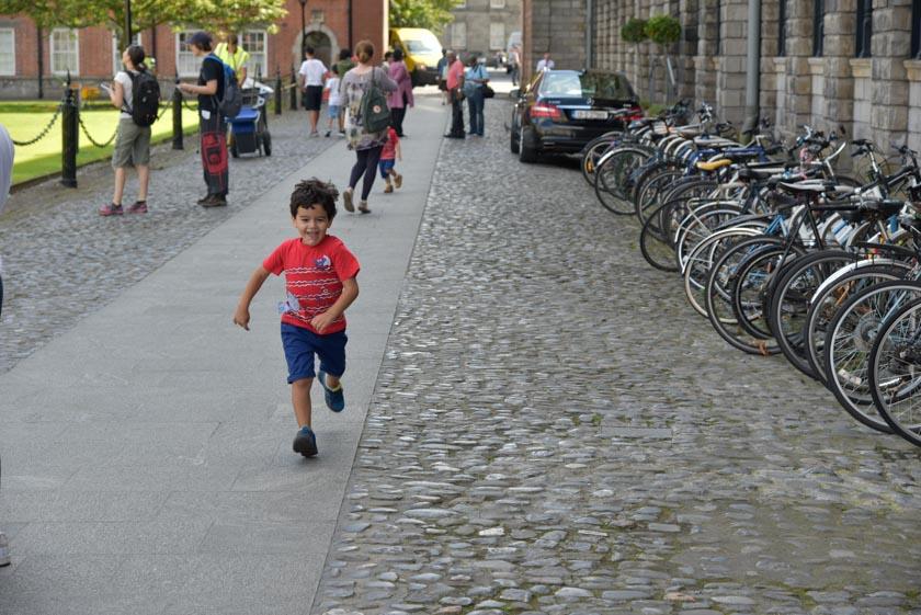 Los peques también disfrutaron del Trinity College