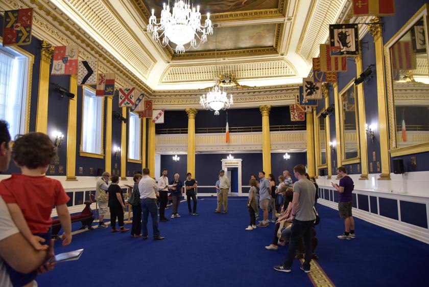Salón de St. Patrick del Castillo de Dublin