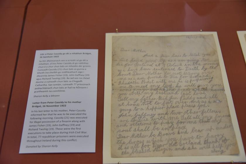 Sobrecogedora carta en Kilmainham