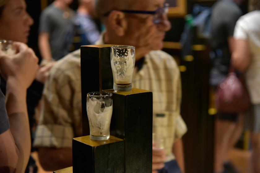 Degustando una Guinness