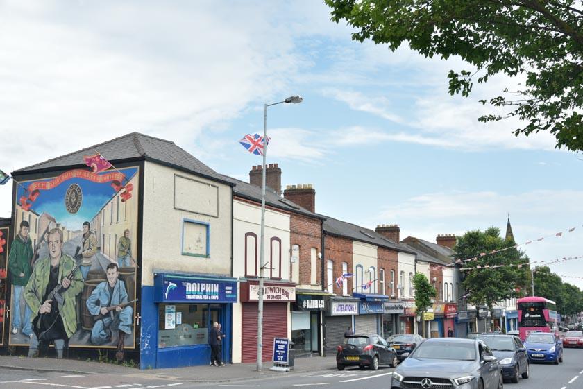 Conociendo la calle Shankill Road en Belfast