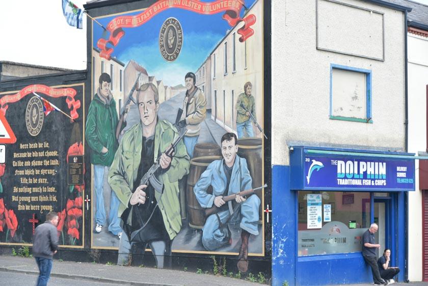 Otro tipo de mural en Shankill Road