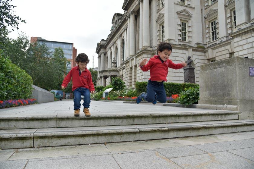 Los peques también disfrutaron en Belfast