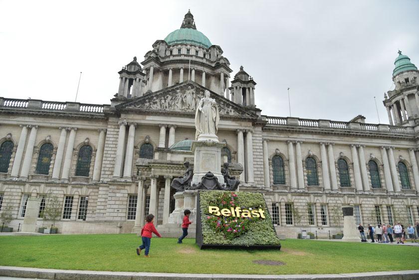 Fachada del Ayuntamiento de Belfast
