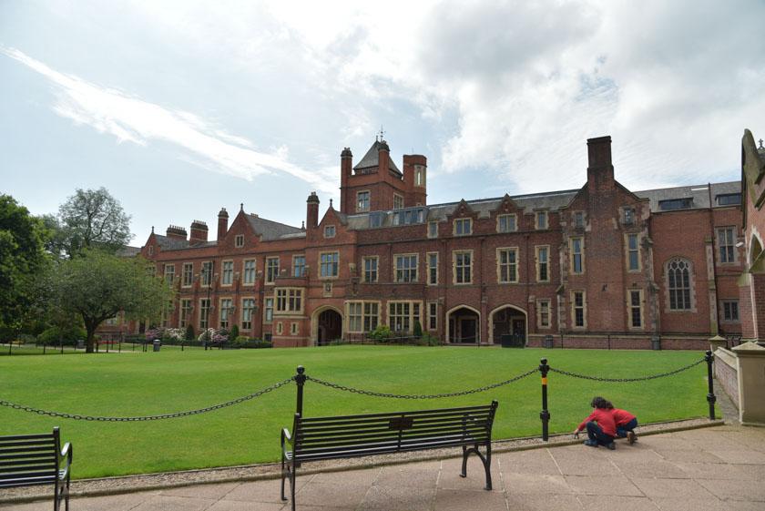 Jardines interiores de la Universidad de Belfast