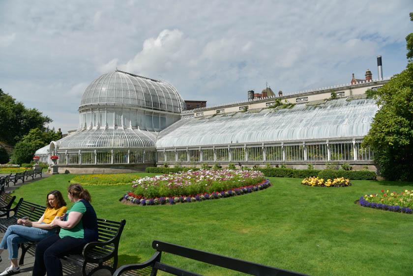 Casa de las Palmeras en el jardín botánico de Belfast