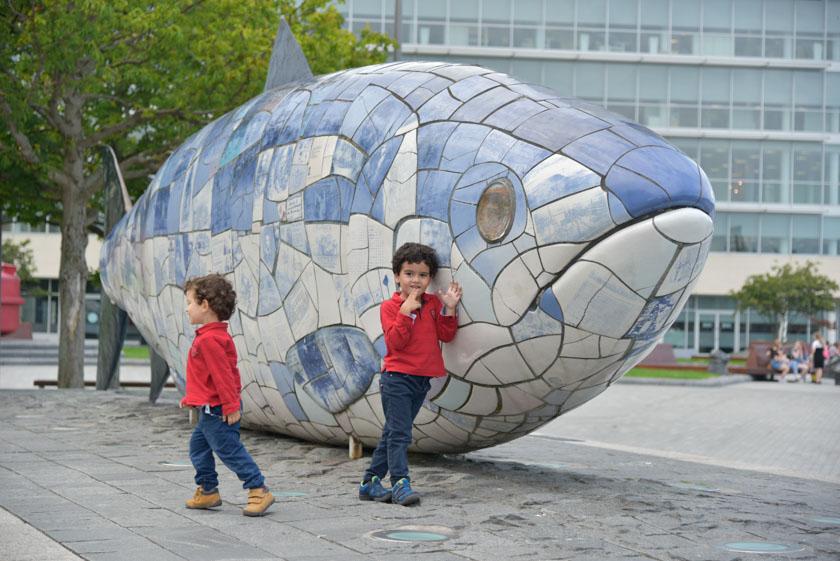 Los peques disfrutaron mucho con el Big Fish de Belfast