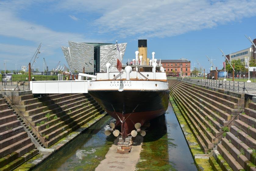 Conociendo el Nomadic antes de llegar al Museo Titanic de Belfast