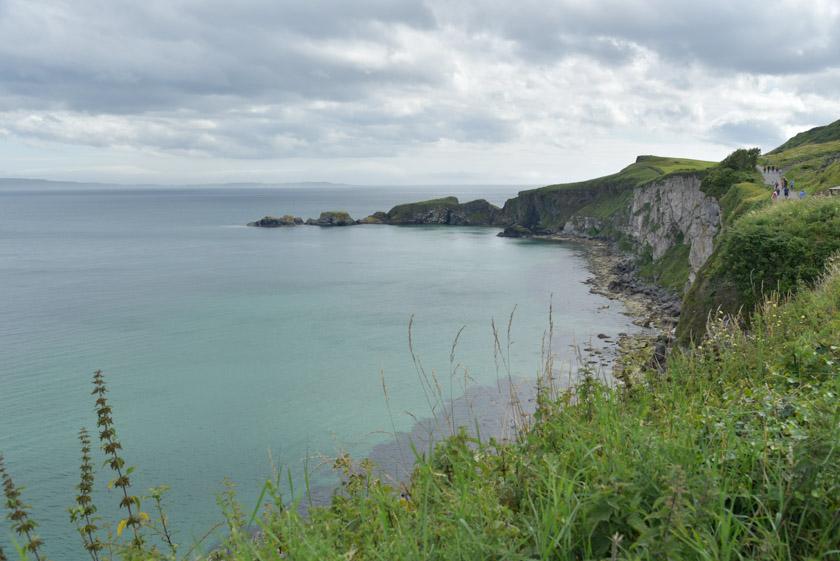 Costa norirlandesa en Carrick-a-rede