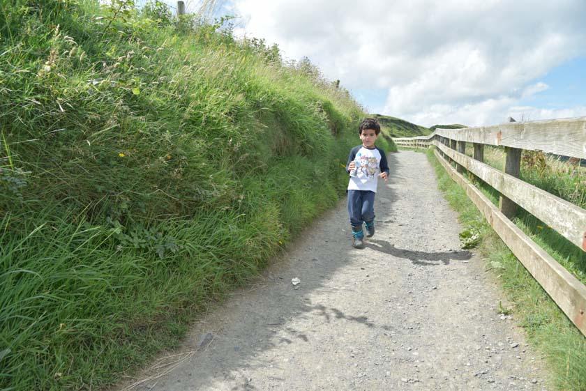 Daniel disfrutando de un agradable paseo