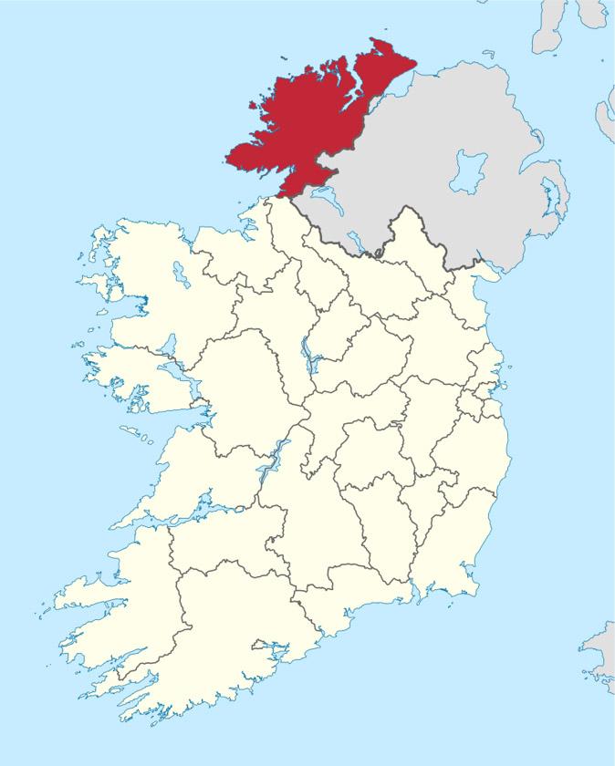 Mapa del Condado de Donegal