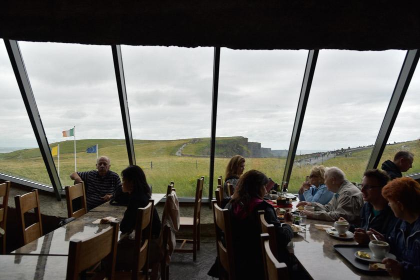 Vistas desde el restaurante de los acantilados