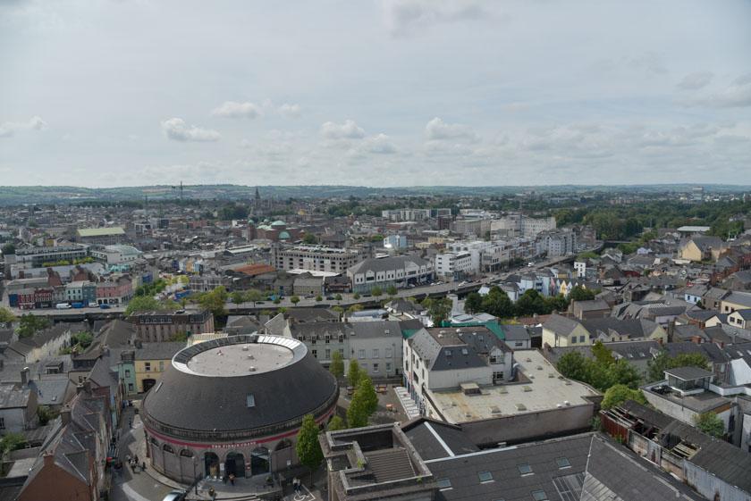 Vistas de Cork desde la torre de la Iglesia de Santa Ana