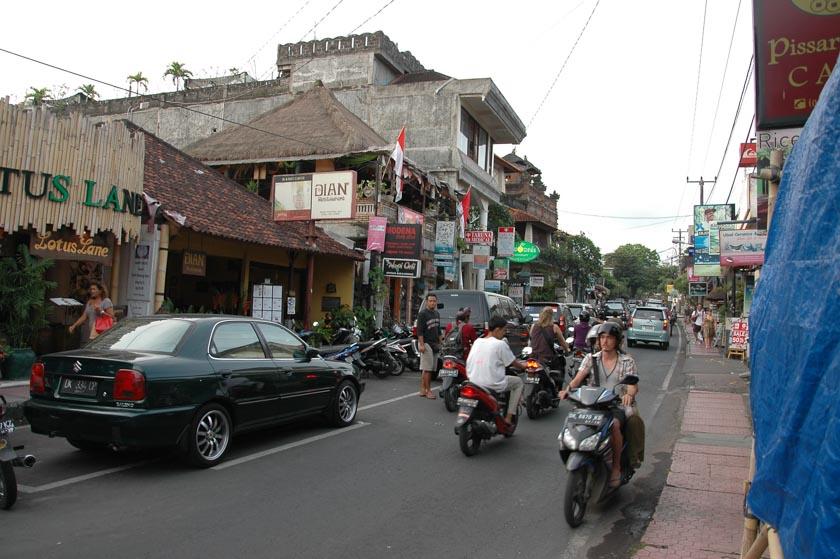 Monkey Forest, la principal calle de Ubud