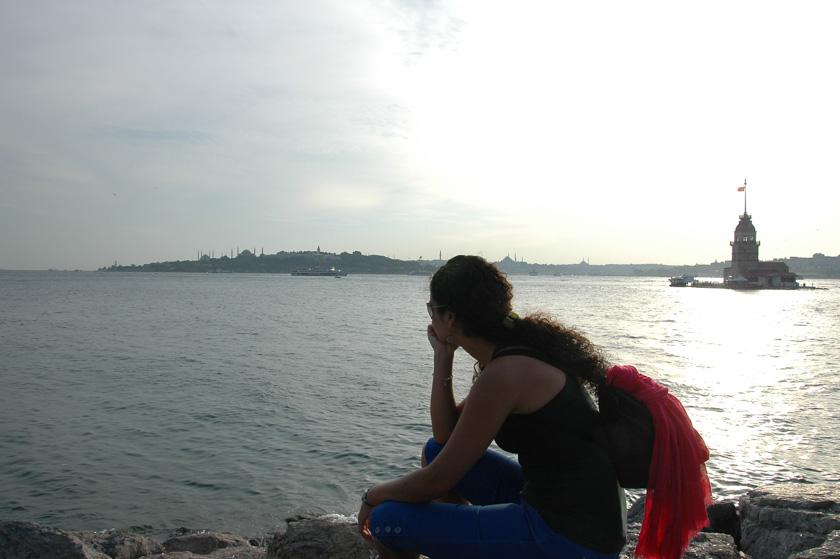 Viendo una bonita panorámica de Estambúl