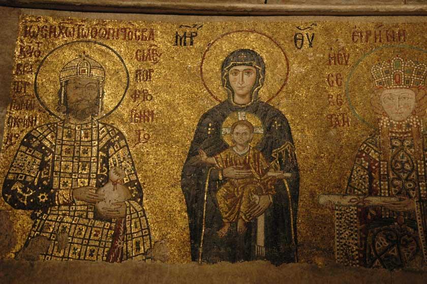 Uno de los muchos mosaicos de Santa Sofía