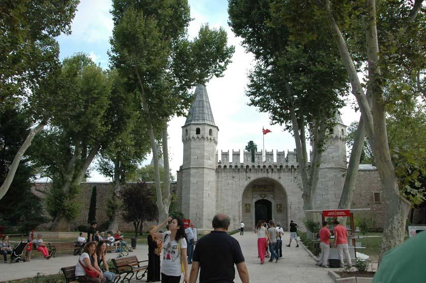 Puerta de la Acogida en el Palacio de Topkapi