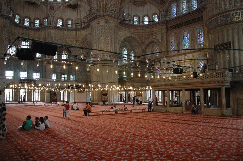 Espectacular estampa de la Mezquita Azul