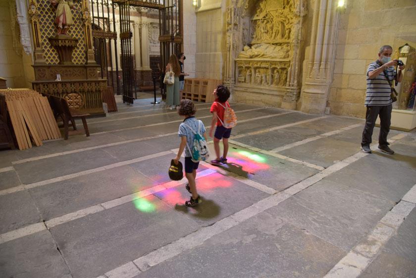 Juego de luces en la Catedral de Burgos