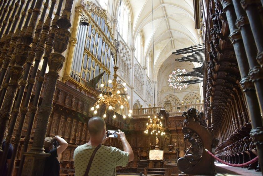 Precioso el coro de la Catedral de Burgos